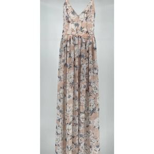 Miss Avenue Sz S Floral Long Backless Party Dress